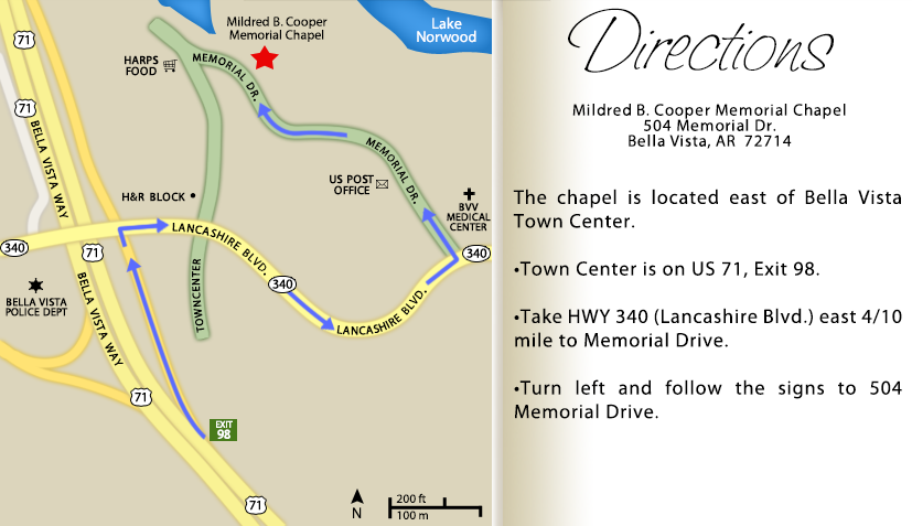 Directions to Mildred B. Cooper Memorial Chapel