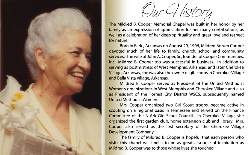 Mildred B. Cooper Memorial Chapel History